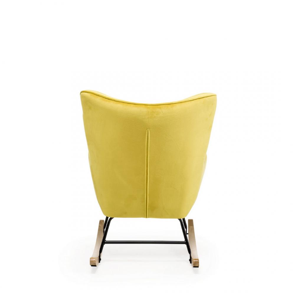 Aemely schommelstoel steerne zwitsal geel velvet
