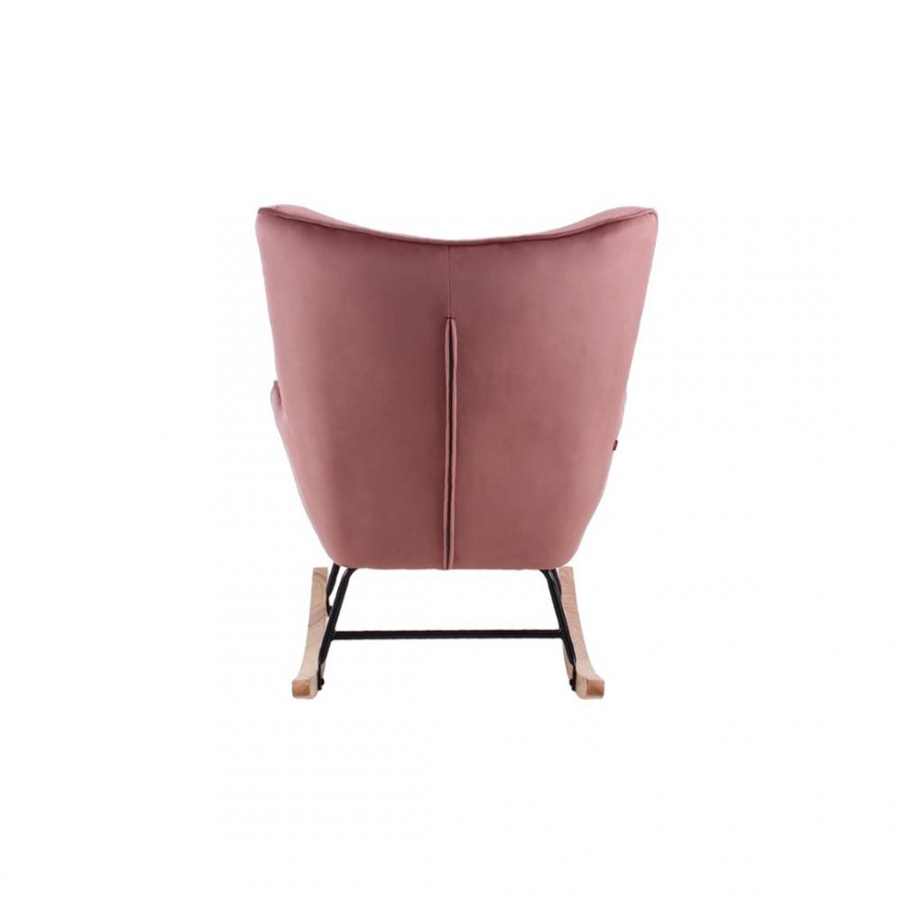 Aemely schommelstoel steerne roze velvet