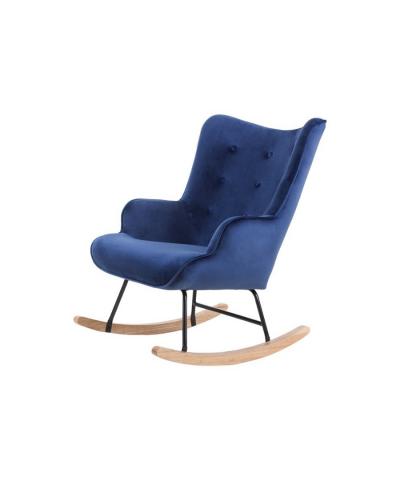 Aemely schommelstoel steerne blauw velvet
