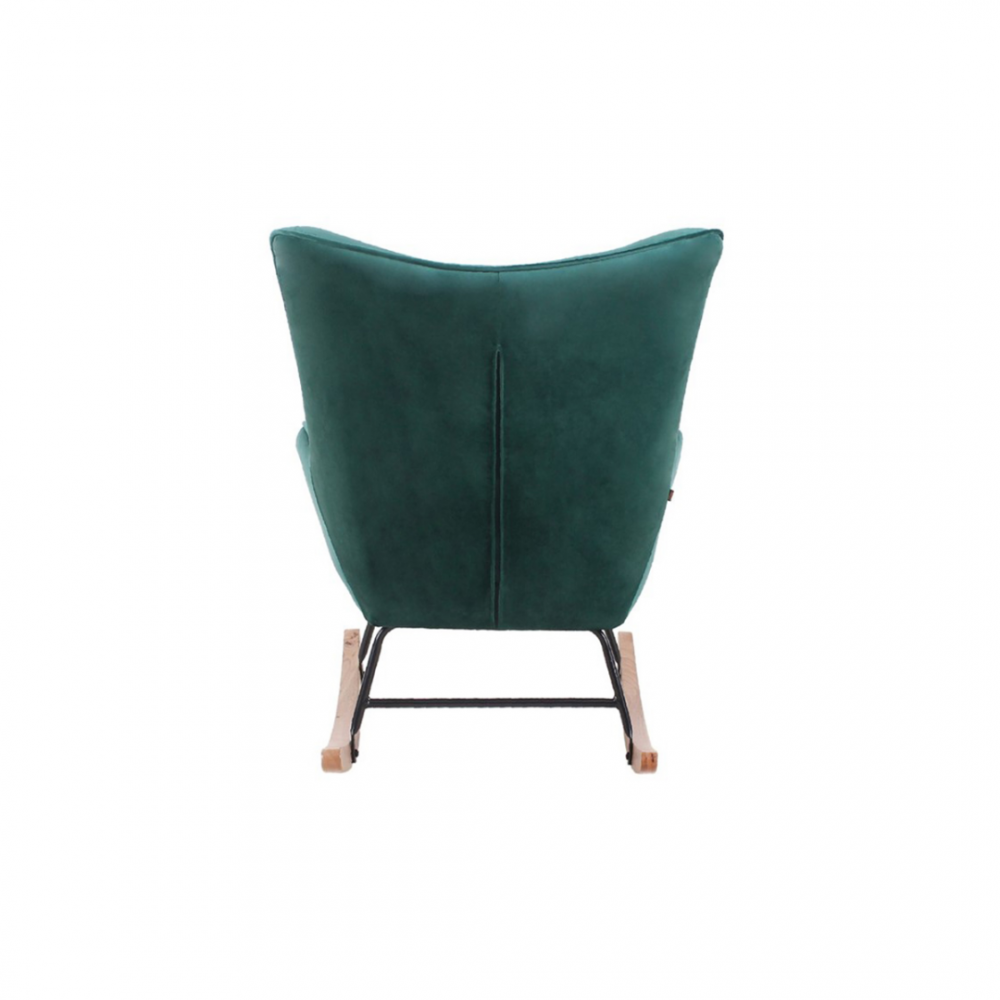 Aemely schommelstoel steerne donker groen velvet
