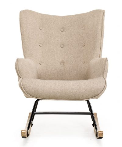 Aemely schommelstoel mama beige stof