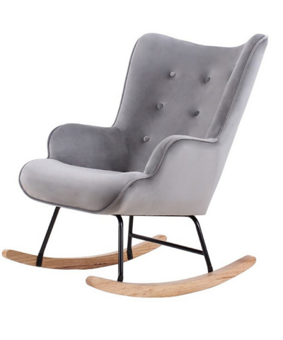 Aemely schommelstoel steerne grijs velvet