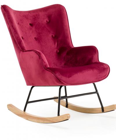 Aemely schommelstoel steerne bordeaux rood velvet