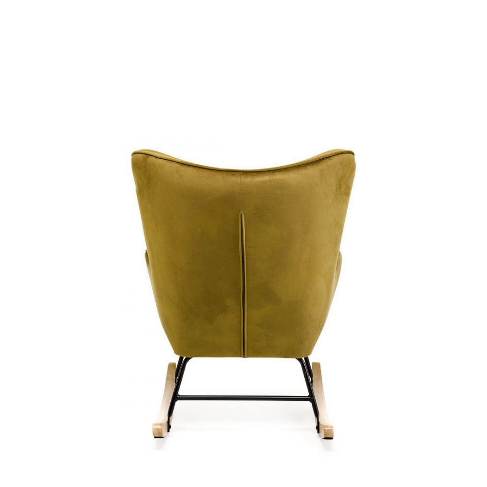 Aemely – Schommelstoel 'Steerne' – Mosterd geel velvet